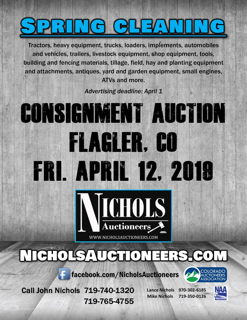 Call for Consignments Flyer Spring 2019 Flagler.jpg