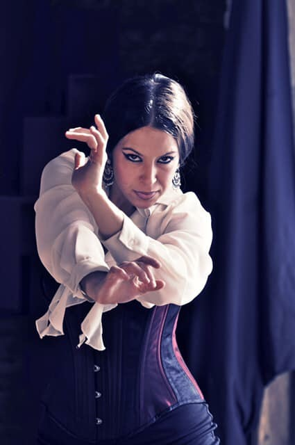 Bianca Rodriguez - Bianca Rodriguez (Dacncer) began dancing Clásico Español and Ballet at the age of 3 in Laredo, Texas with Mina Gutierrez. She learned Sevillanas at age 7 from Cristina and Jose Greco II. Bianca received a degree in flamenco dance from the University of New Mexico under the direction of Eva Encinias. She performed with the National Institute of Flamenco studying with El Torombo, Karime Amaya, Inmaculada Ortega, and Manuel Liñan. Bianca continued her studies in Sevilla with Juana Amaya, Farruquito, Antonio Canales, and Angelita Vargas. She returned to the US and began working with various companies including Juan Siddi, Antonio Granjero, and Flamenco Vivo. She was first featured as a soloist in
