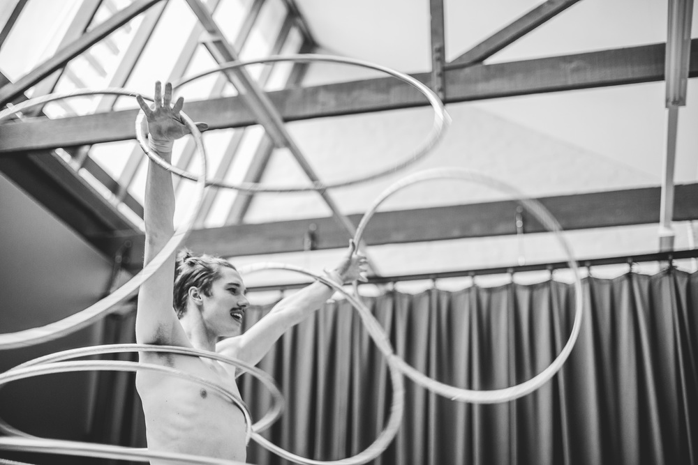 Warm up, Odds & Ends Circus, The Melba Speigletent, Melbourne, September 2015