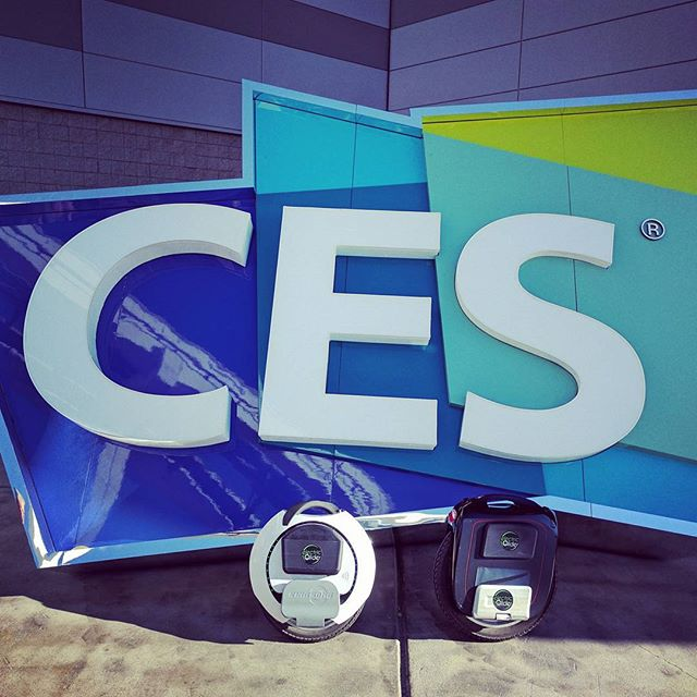 Day 2 of riding around CES! #electricunicycle #ces2017 #gotway #kingsong