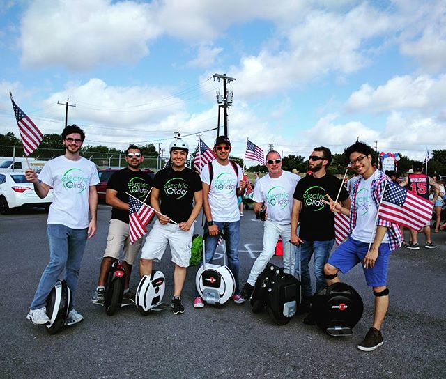 Thanks for having us in your July 4th parade Leon Valley! We had a blast! #electricunicycle #electricglider #kingsong #gotwaymsuper