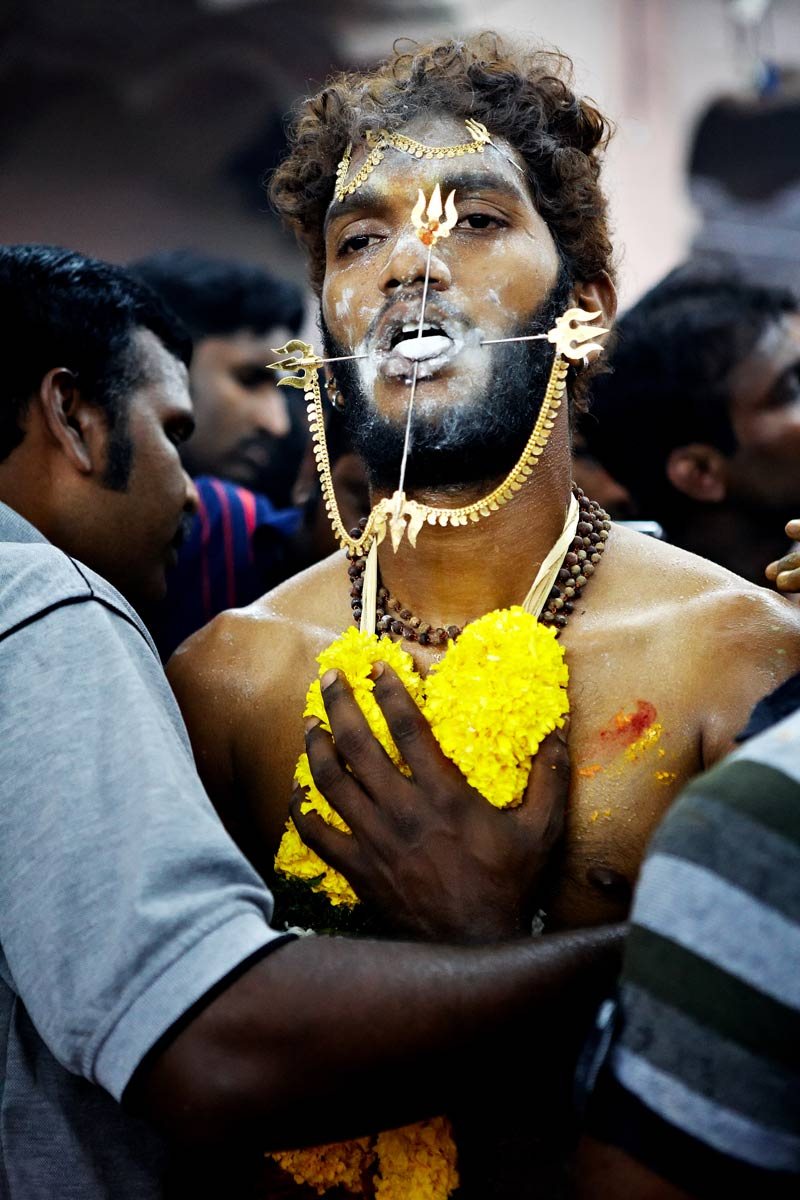 Devotee and his piercing