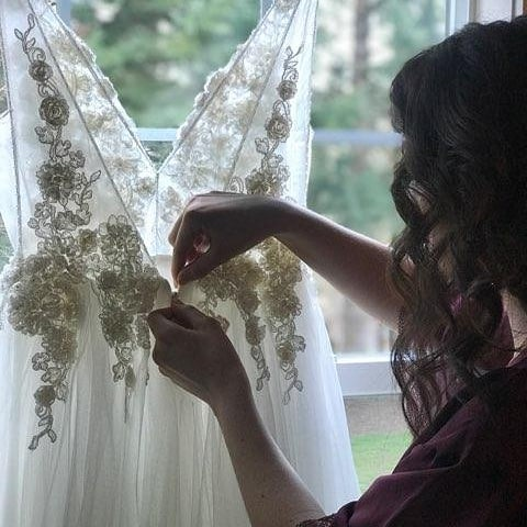 "Such a wonderful feeling when hearing  customer said : ""I love my dress so much!"" #ilovemydress #treasure #gettingmarried #salemoregon #usa #vouture #viencouture"