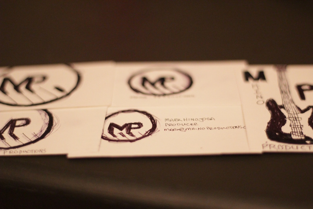 Business Cards. — Mhino Productions - A Las Vegas recording studio.