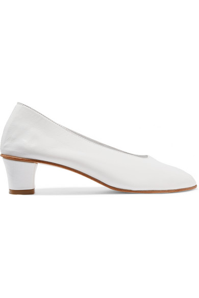 HIGH GLOVE LEATHER PUMP $495 /  Net-a-Porter