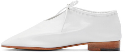 WHITE LEATHER BOOTIE OXFORD $485 /  ssense