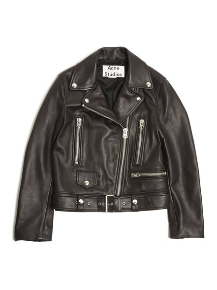 Mock Black Leather Jacket / Acne Studios $1600