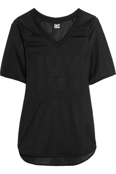 Embroidered Mesh T-Shirt $60
