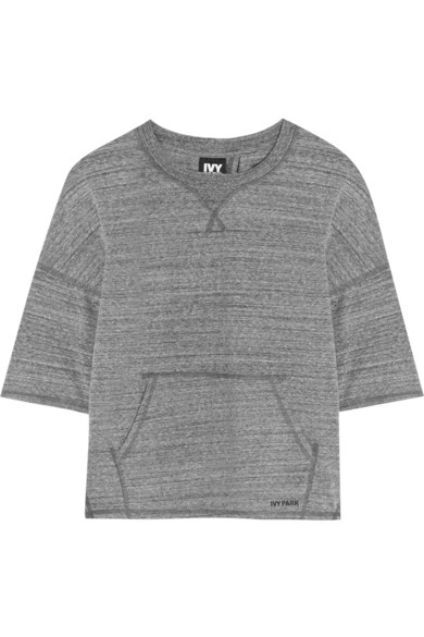 Split-Back Stretch Jersey Sweatshirt $45
