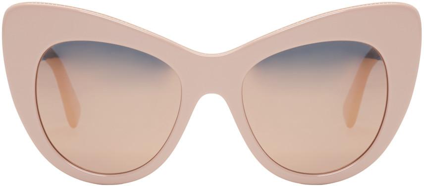 Stella McCartney Pink-Mirrored Cat-Eye Sunglasses