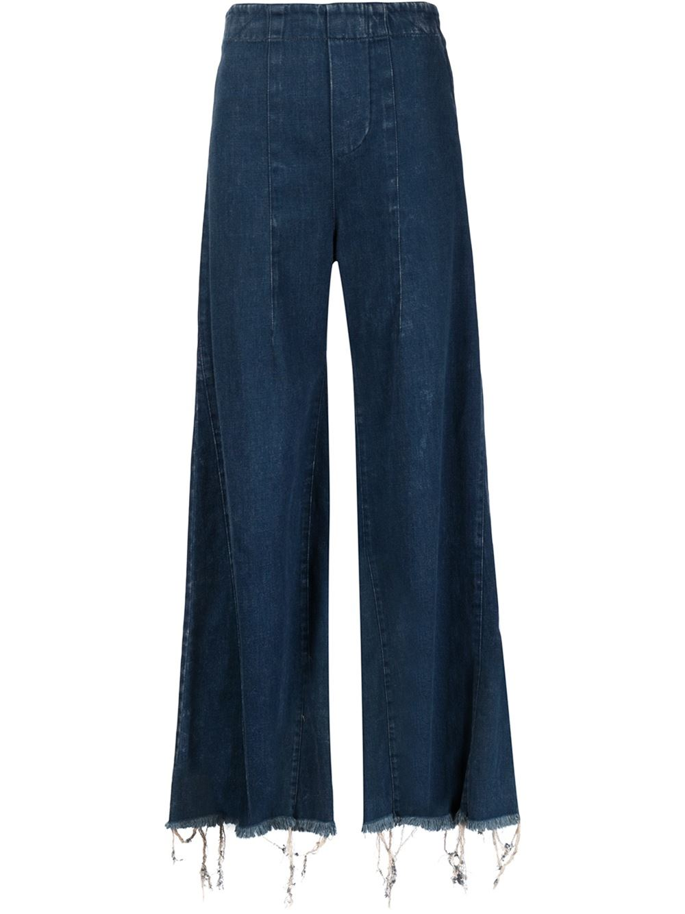 Chloe Washed Denim Flared Trouser