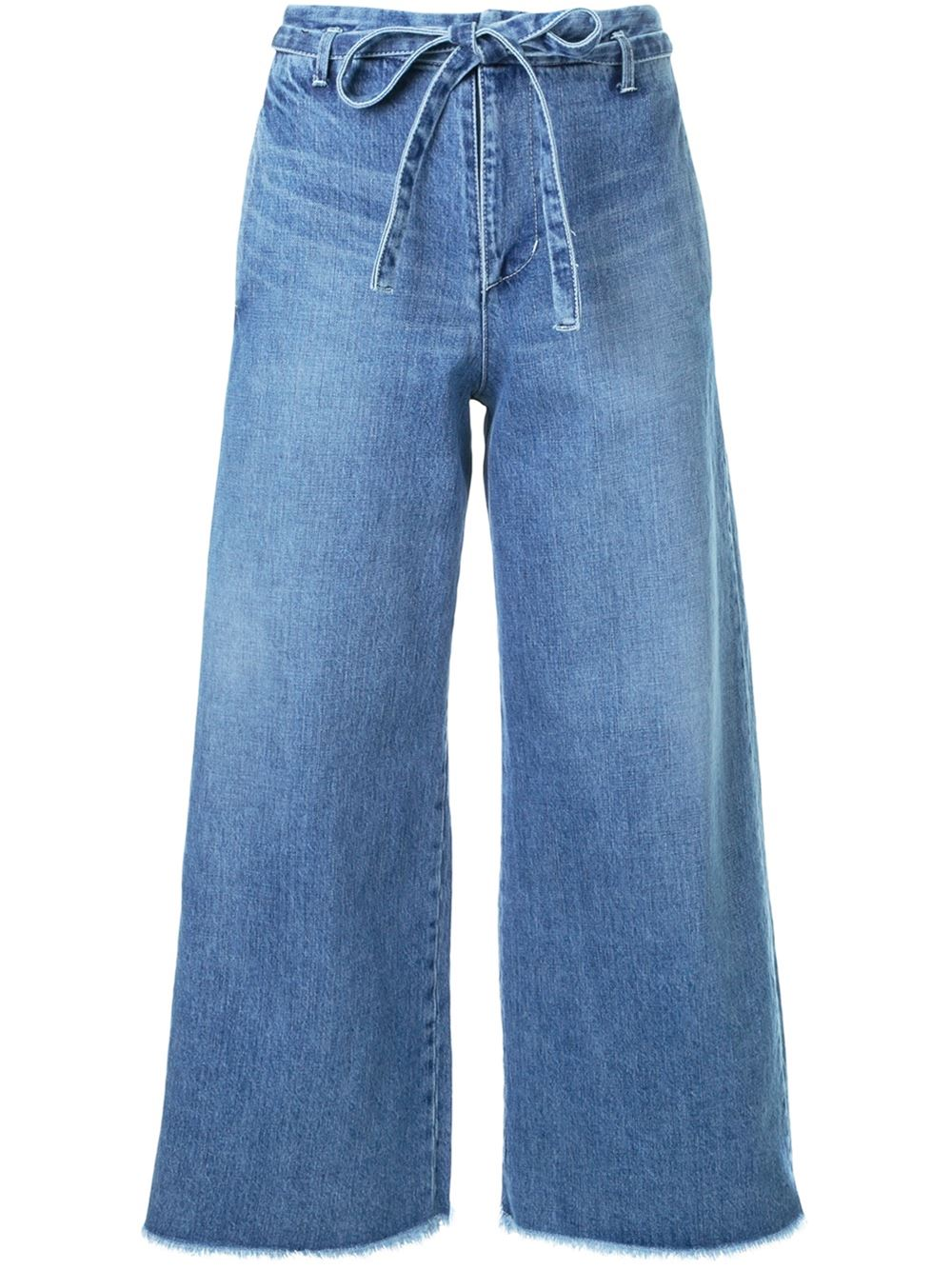 Fabiane Roux Cut-Off Wide Cropped Jeans