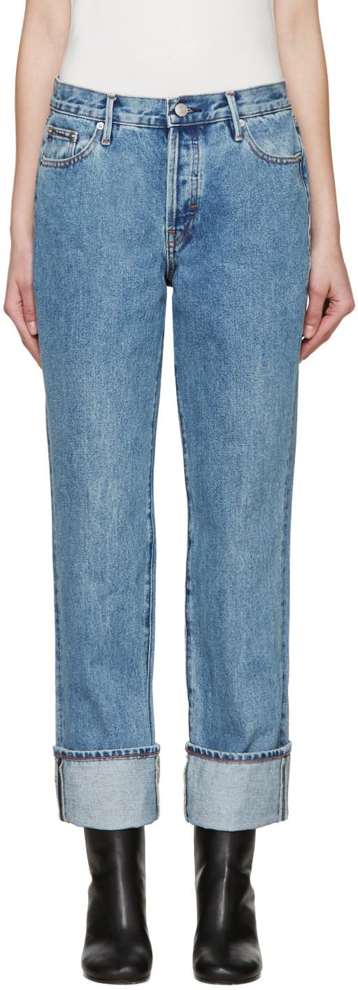Earnest Sewn Blue Boyfriend Celine Jeans