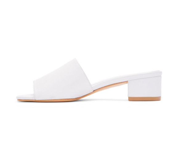 Maryam Nassir Zadeh: White Leather Sophie Slide Sandals was $360, now $288