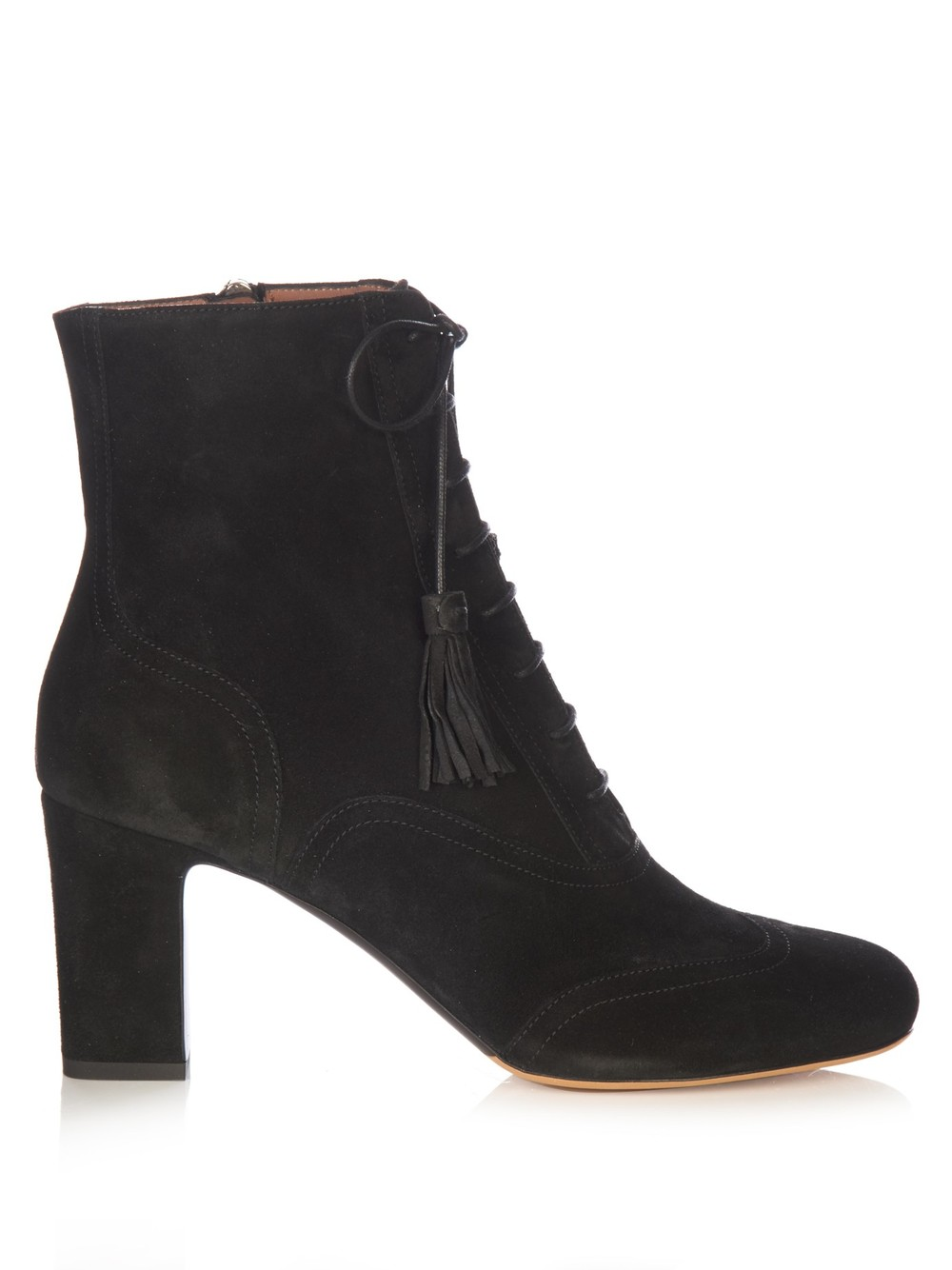 Tabitha Simmons 'Afton Lace-Up Suede Ankle Boots'