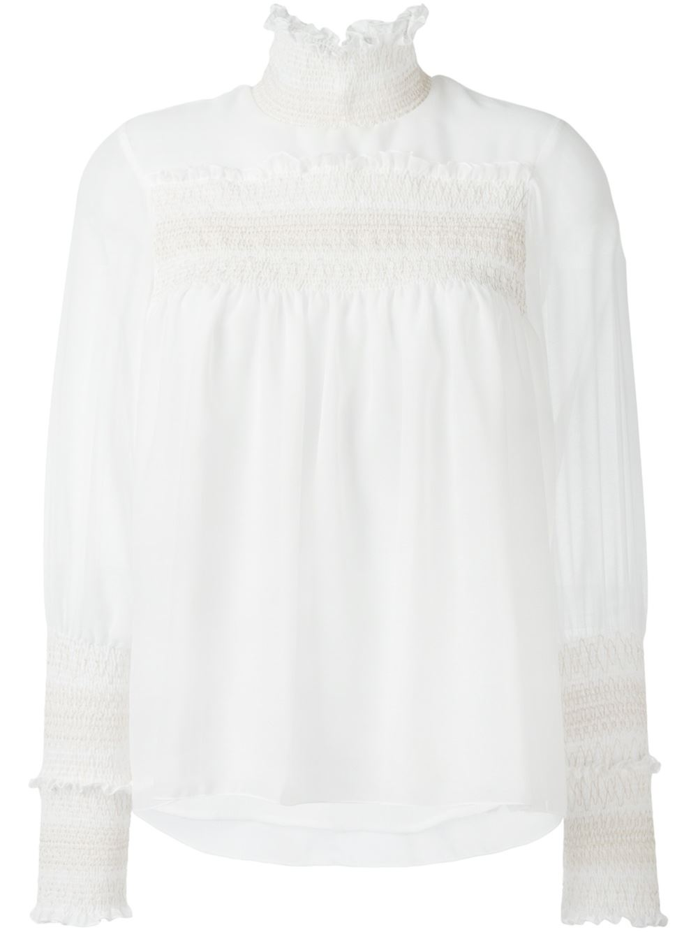 See by Chloe 'Smocked Detail Blouse'