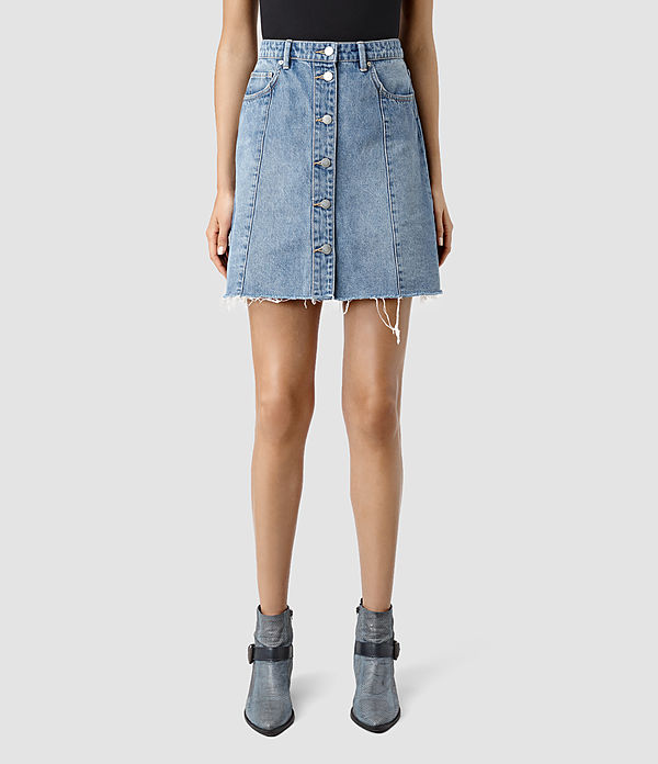 All Saints 'Conny Denim Skirt'