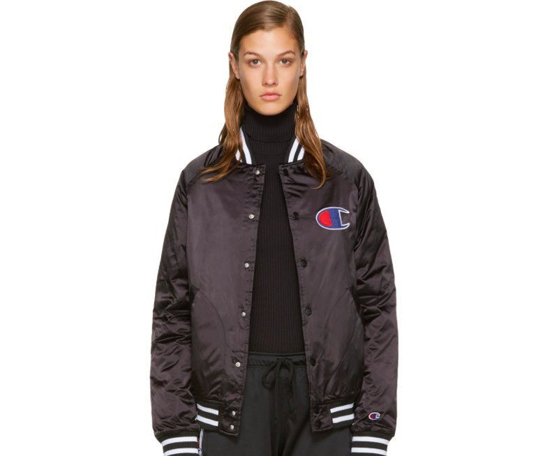 Champion Reverse Satin Bomber via DNAMAG