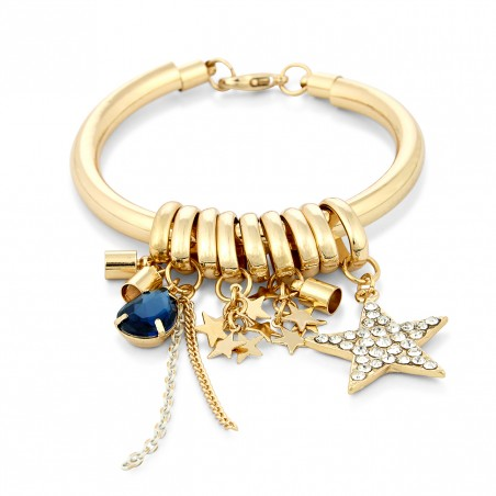 GOLD BANGLE CHARM BRACELET by SOLE SOCIETY