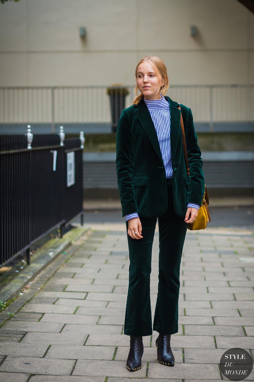 OOTD in emerald tones via DNAMAG