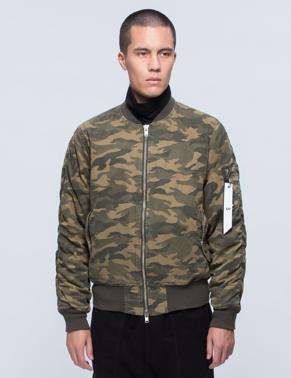 CAMO WASHED BOMBER JACKET by STAMPD