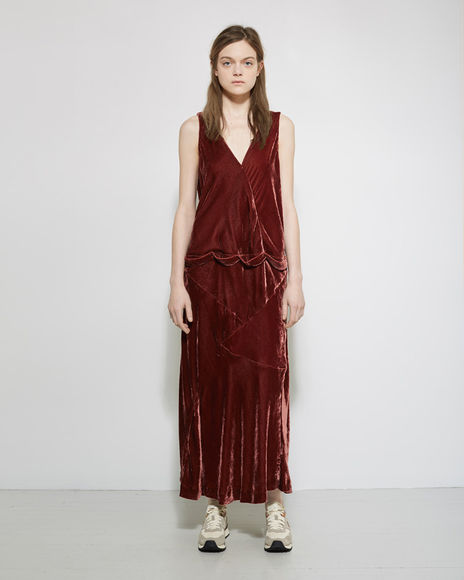 velvet dinner dress by VISVIM
