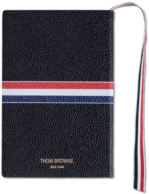 PEBBLE GRAIN LEATHER NOTEBOOK by THOM BROWNE