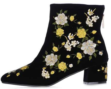 Topshop Blossom Embroidered Boots via DNAMAG