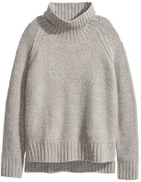 H&M Grey Turtleneck via DNAMAG