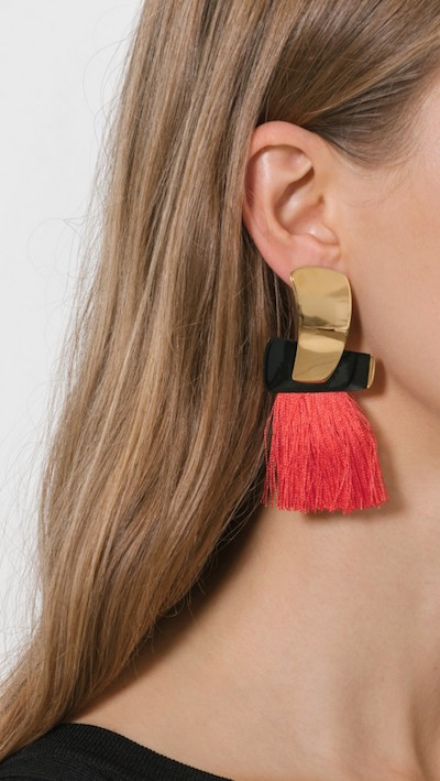 Lizzie Fortunato totem tassel earrings via DNAMAG
