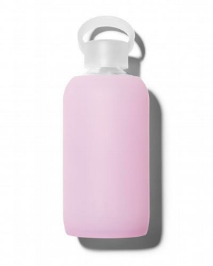 BKR Glass Water Bottle in cupcake