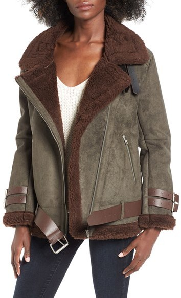 Faux Shearling Jacket under $150 ... via DNAMAG