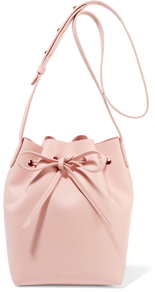 Mansur Gavriel 'Mini Leather Bucket Bag' in pastel pink