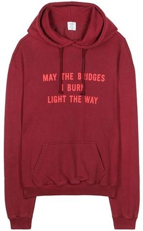 Vetements hoodie via DNAMAG