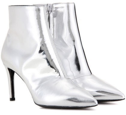 Balenciaga metallic leather boots