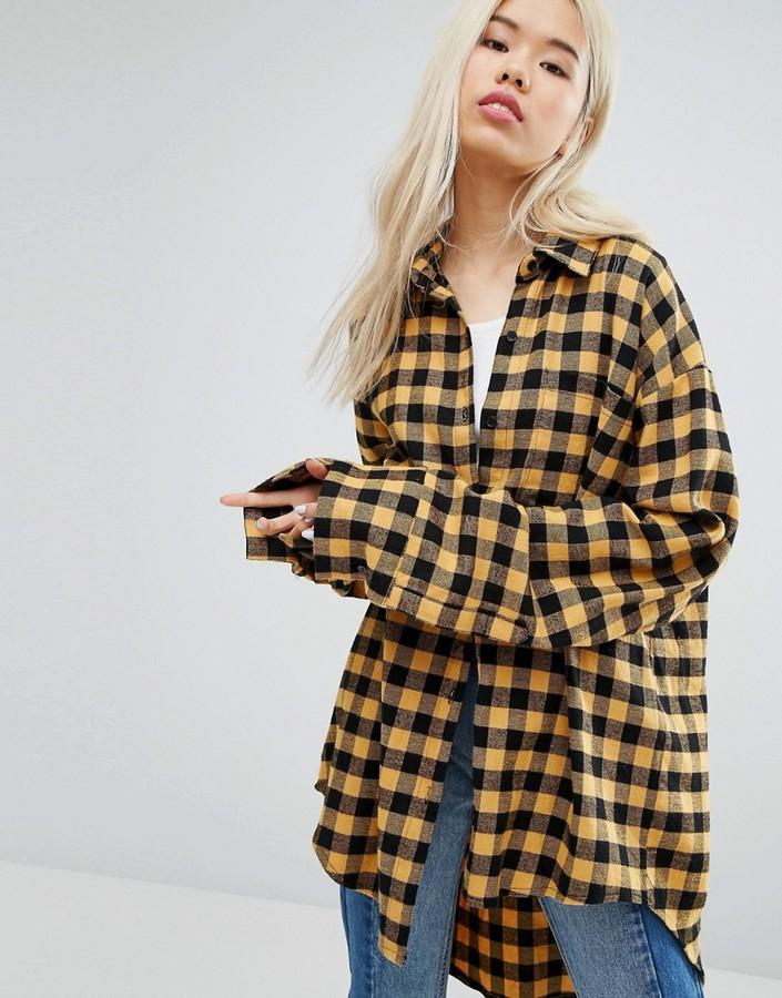 Style Nanda Oversized Deconstructed Checkered Shirt