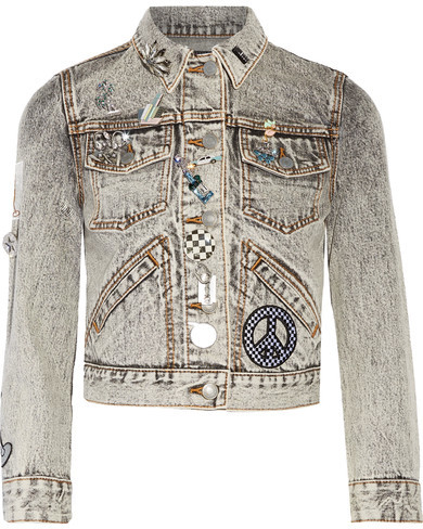 Marc Jacobs Embellished Applique Denim Jacket
