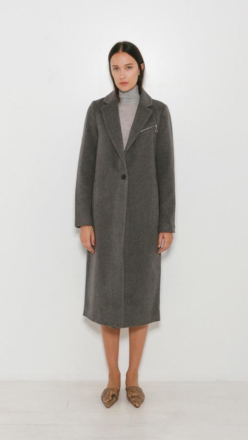 Alexander Wang notched lapel car coat