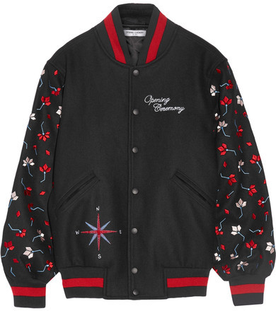 Opening Ceremony embroidered wool-blend bomber jacket