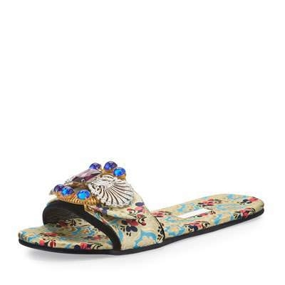 Miu Miu Mogador Anemone Slide Sandal