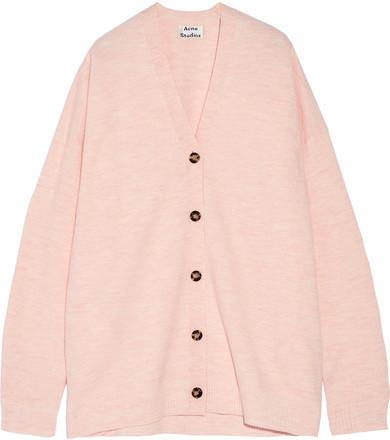 Acne Studios - Mesi Oversized Pastel Pink Cardigan