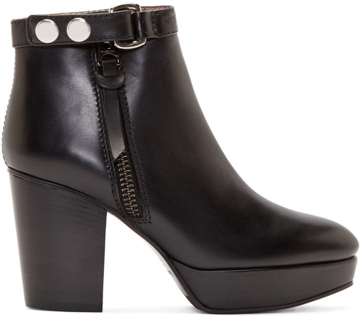 Acne Studios - Black Leather Orbit Boots