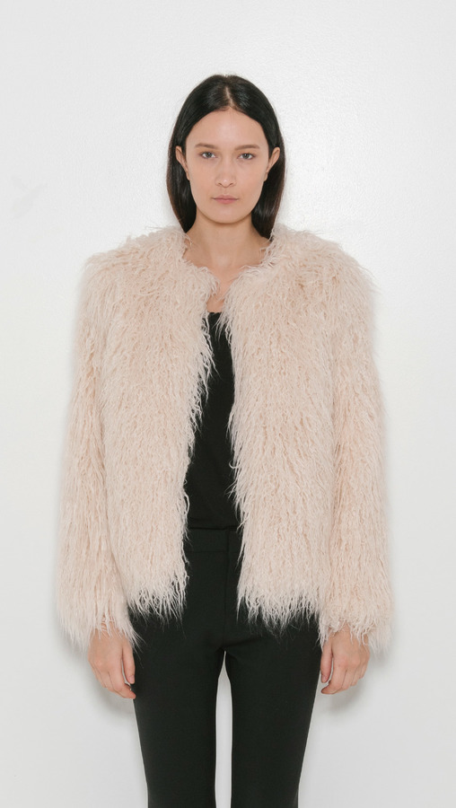 Nili Lotan lena faux fur jacket