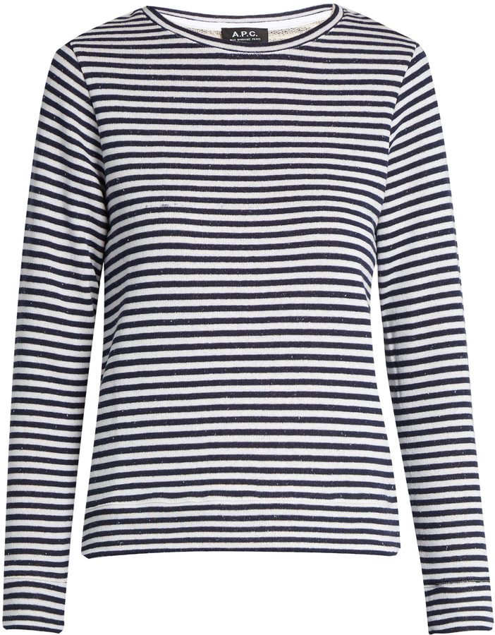 A.P.C long sleeved stripe tee