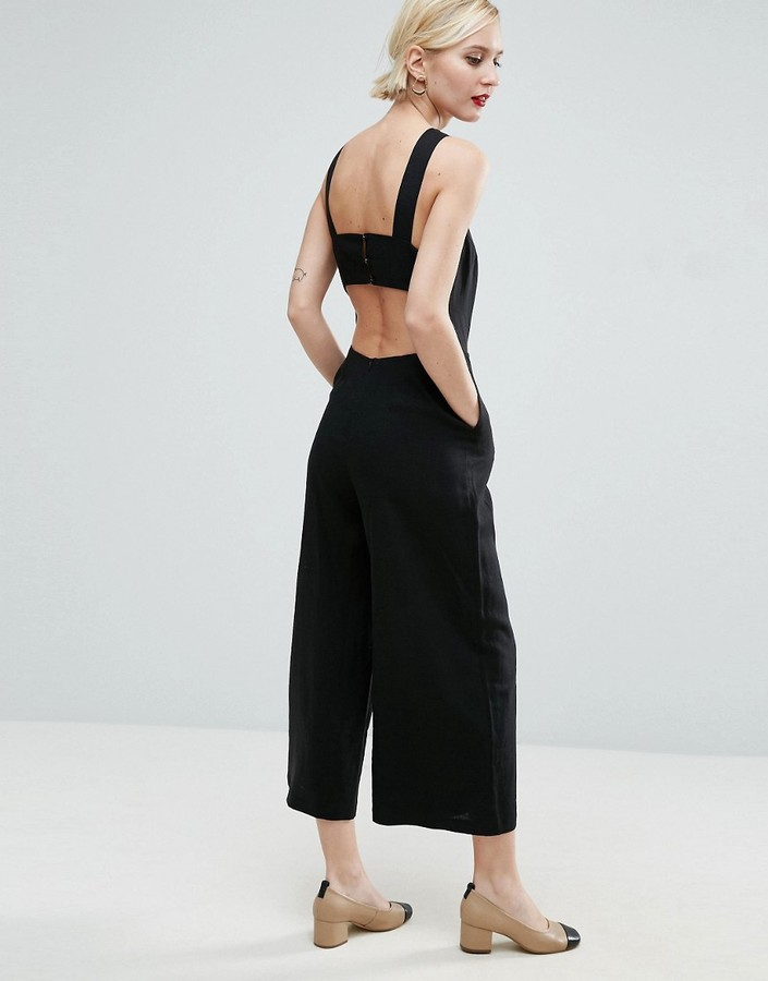 Asos minimal linen jumpsuit