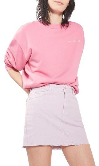 Topshop hi-rise corduroy skirt