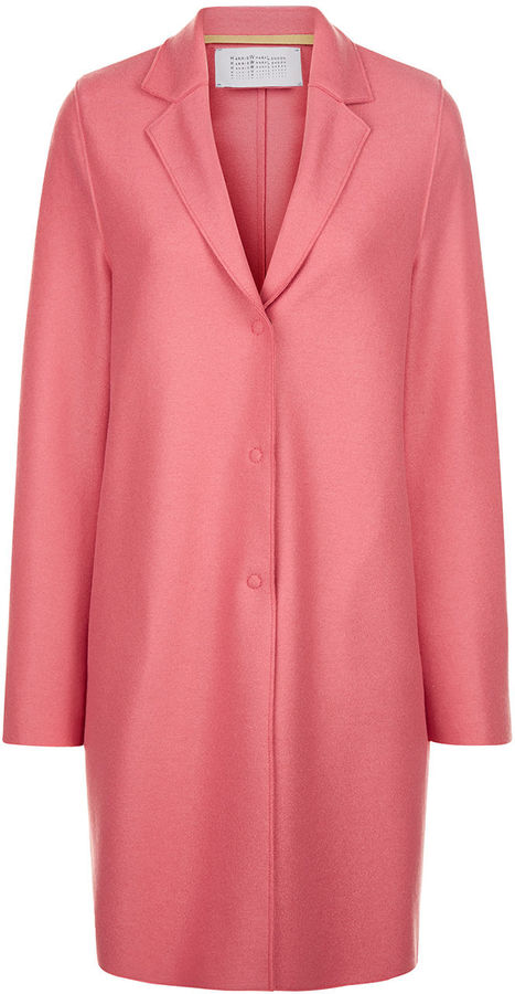 Harris Wharf - bubblegum pink wool cocoon coat