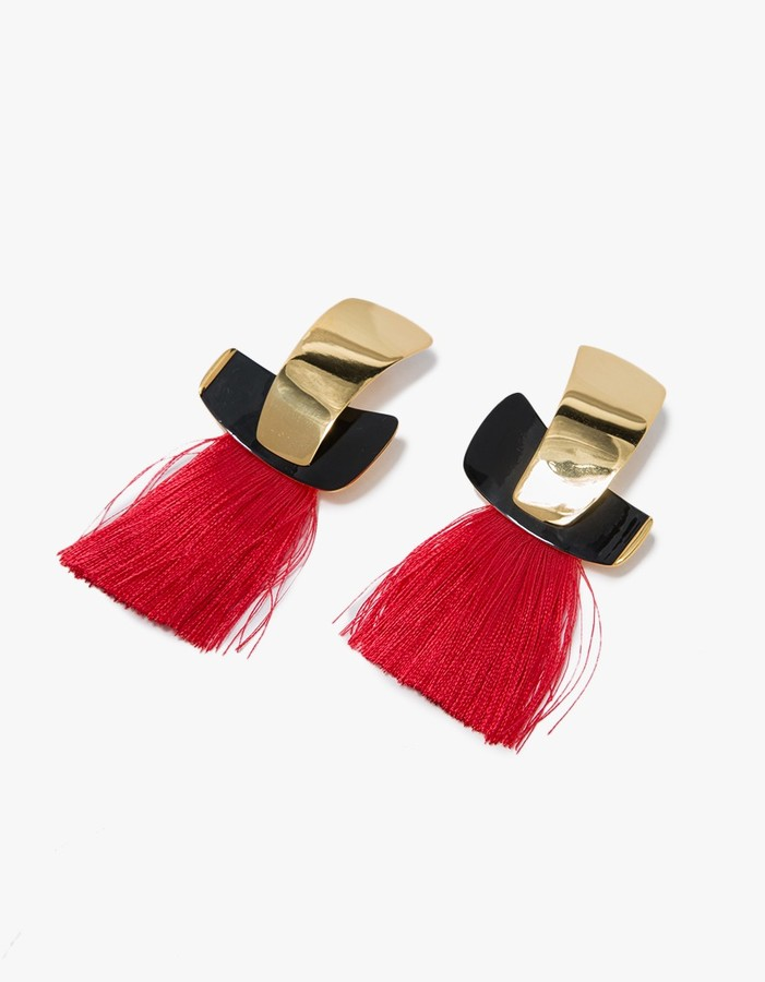 Lizzie Fortunato - totem tassel earrings