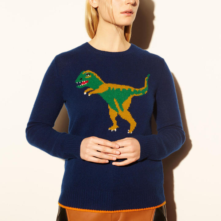 1941 Dinosaur Motif Sweater by Coach