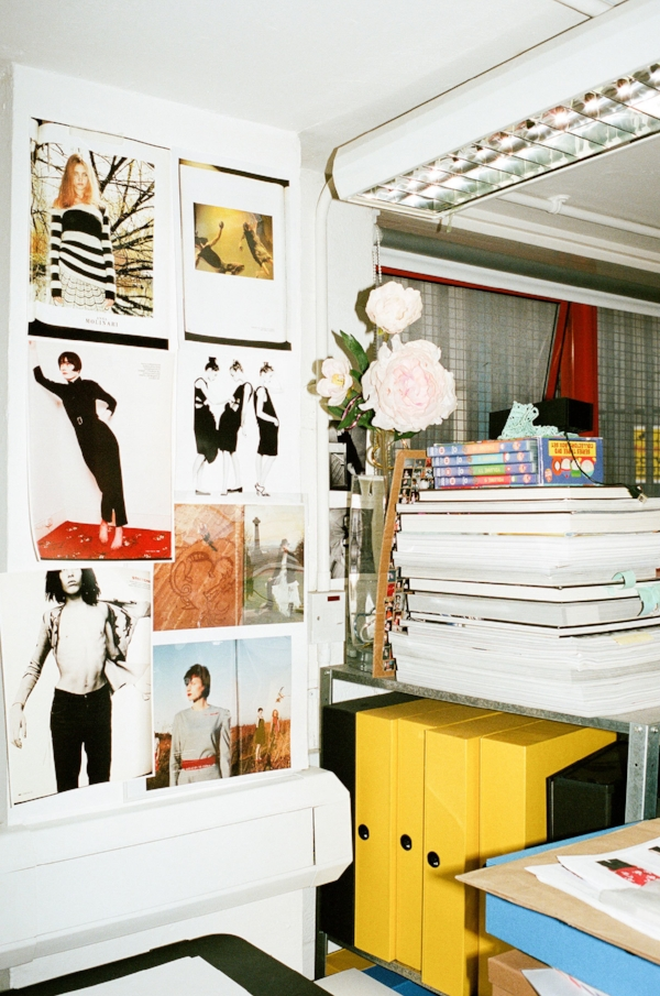 Inside Molly Goddard's studio via DNAMAG